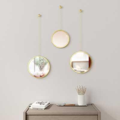 Brass 3 Piece Dima Mirror Set - Wayfair