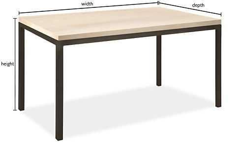 "Parsons Custom Table 1.5"" Leg, 60""W x 24""D x 29""H - Room & Board"