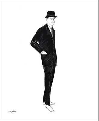 Male Fashion Figure, c. 1960 - art.com