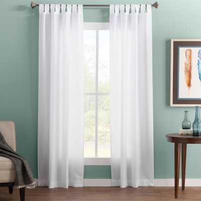 Wayfair Basics Solid Color Semi-Sheer Tab Top Single Curtain Panel - Wayfair