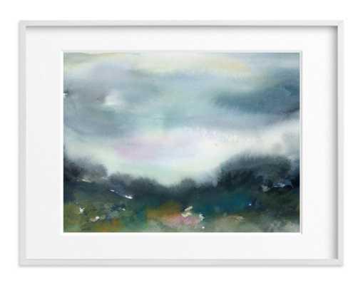 "Glade Wall Art / 40"" x 30"" / White Wood Frame - Minted"