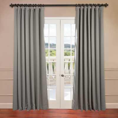 Aldreda Extra Wide Solid Room Darkening Thermal Rod Pocket Single Curtain Panel - Birch Lane