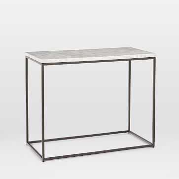 Streamline Side Table, Marble, Antique Bronze, Set of 2 - West Elm