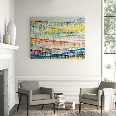 'DELICATE RAIN II' GRAPHIC ART PRINT ON CANVAS - Hayneedle