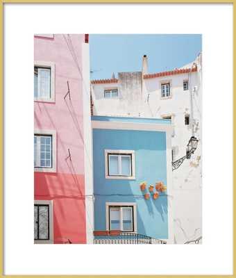 Lisbon Pink and Blue - Artfully Walls