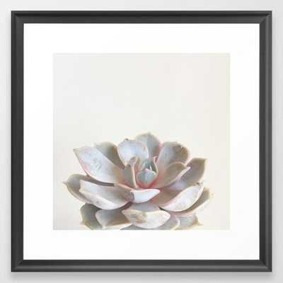 "Pink Succulent Framed Art Print 12 x 12"" - Society6"