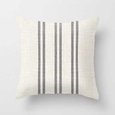 AEGEAN GREY STRIPE Throw Pillow - Society6