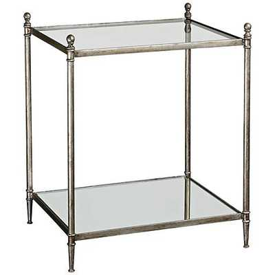 Uttermost Gannon Mirrored Glass End Table silver - Lamps Plus