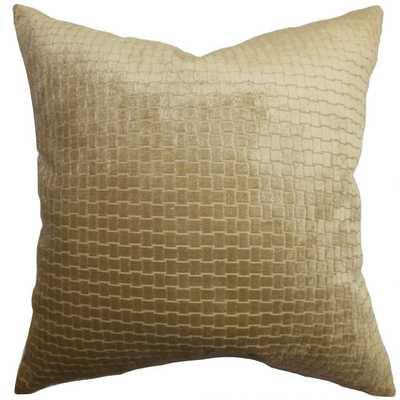 Earleen Solid Pillow Dark Brown-20x20-poly insert - Linen & Seam