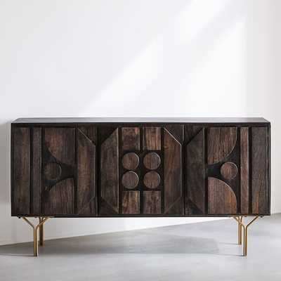 Pictograph Buffet, Mango, Carbon - West Elm