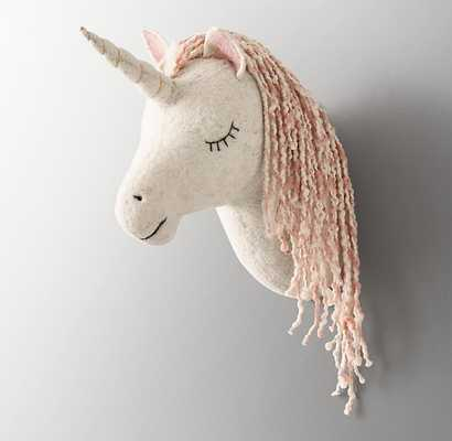 HANDMADE WOOL FELT UNICORN HEAD - RH Baby & Child