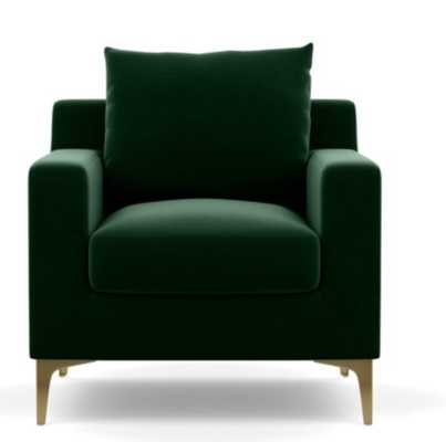 SLOAN Petite Chair- Emerald- brass plated - Interior Define