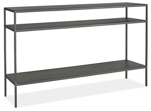 Slim Console Table in Natural Steel - Room & Board