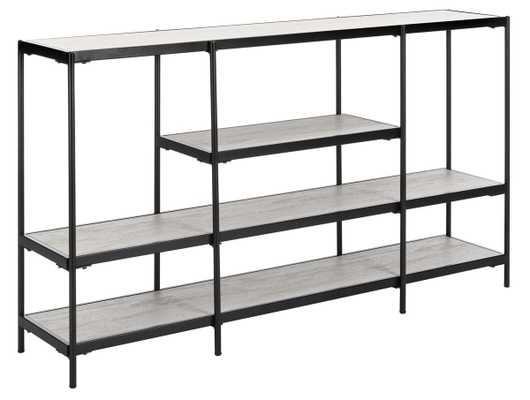 Petra 3 Tier Console Table - Beige/Black - Arlo Home - Arlo Home