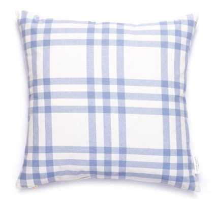 """Grande Plaid Pillow in Eventide, 20"""" Pillow Cover - Caitlin Wilson"""