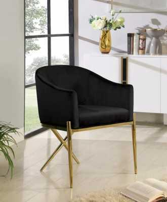 Cesar Upholstered Dining Chair- Black - Wayfair