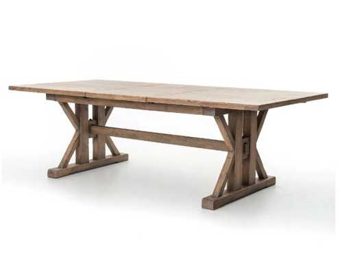 Tuscan Spring Extension Dining Table in Sun Dried Wheat - Burke Decor