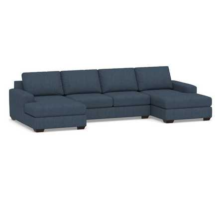 Big Sur Square Arm Upholstered U-Shaped Chaise Sectional - Pottery Barn