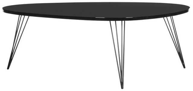 Wynton Retro Mid Century Lacquer Coffee Table - Black - Arlo Home - Arlo Home