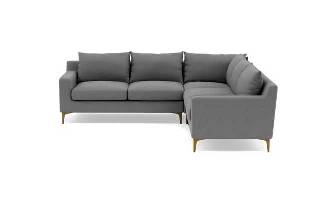 Sloan Corner Sectional - Heather Performance Felt - Interior Define