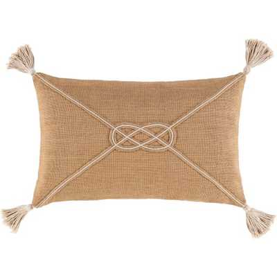 "London Lumbar Pillow, 14""x 22"", Camel - Cove Goods"
