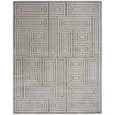 Drexler Gray/White Indoor/Outdoor Area Rug - Wayfair