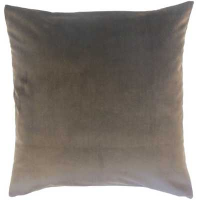 "Classic Velvet Pillow, Coal, 20"" x 20"" - Havenly Essentials"
