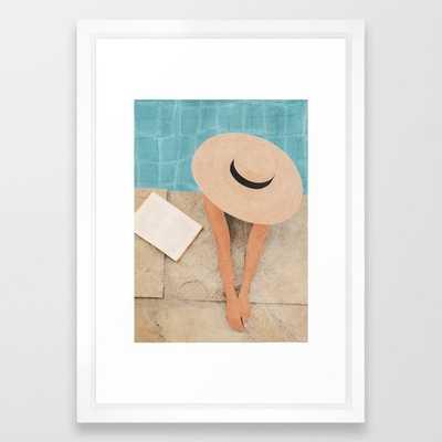 On the edge of the Pool II Framed Art Print - Society6
