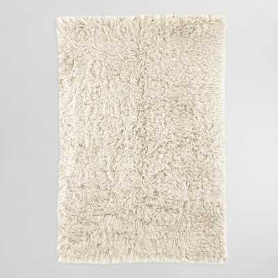 Natural Flokati Wool Area Rug: White/Natural - 5' x 8' by World Market 5Ftx7Ft - World Market/Cost Plus