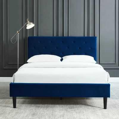 Bravo Upholstered Platform Bed Frame- Full - Wayfair