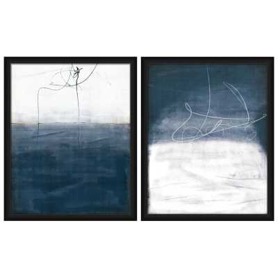 Vertigo - 2 Piece Picture Frame Graphic Art Print Set on Plastic/Acrylic - AllModern