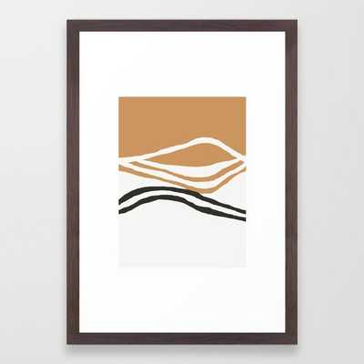 Rhode - ocean art, wall art, minimal art, earth tone, earth palette, minimalist, olivia st james art Framed Art Print - Society6
