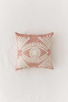 Magic Eye Velvet Throw Pillow - Urban Outfitters