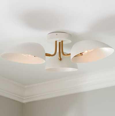 ED ELLEN DEGENERES JANE 3 LIGHT FLUSH MOUNT - Shades of Light