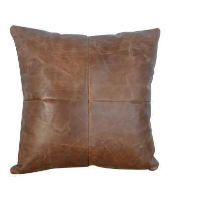 Tebin Leather Throw Pillow - Wayfair