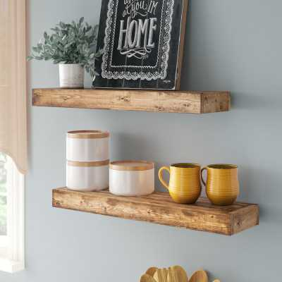 "Aoife Artisan Haute Wall Shelf (Set of 2) - 24""W - Birch Lane"