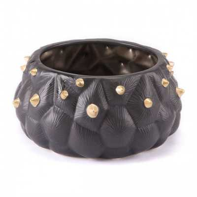 Black Cactus Bowl Black & Gold - Zuri Studios