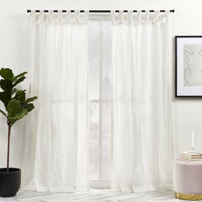 Exclusive Home Linen Solid Semi-Sheer Tap Top Curtain Panels (Set of 2) - Wayfair