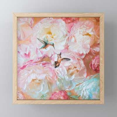 Peony LOVE Framed Mini Art Print - Society6