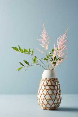 Woven Grass Vase - Anthropologie
