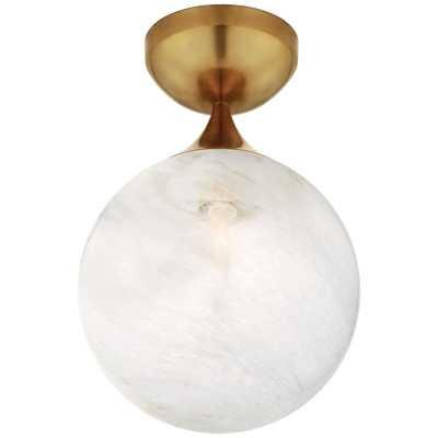 Visual Comfort Aerin 1 - Light 8'' Unique/Statement Globe Flush Mount Fixture Finish: Hand-Rubbed Antique Brass - Perigold