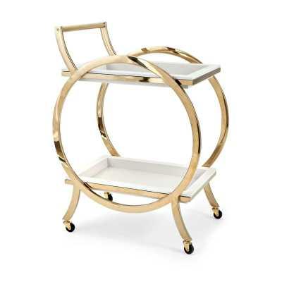 Waville Metal Bar Cart - Wayfair