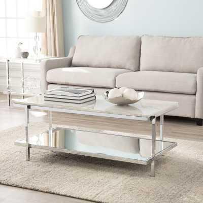 Skipton Faux Marble Coffee Table - Wayfair