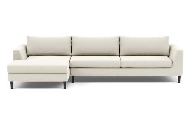 ASHER 2-Seat Sectional Sofa with Left Chaise - Chalk Heathered Weave - Interior Define