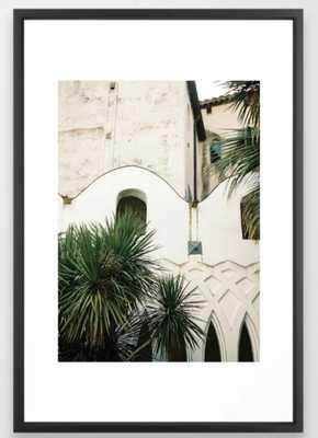 "Italian architecture on the Amalfi coast | Travel photography Italy Europe Framed Art Print 26"" x 38"" Vector black - Society6"