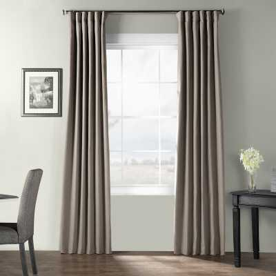 Bone Bark Weave Solid Room Darkening Rod Pocket Single Curtain Panel - stardust gray - Wayfair