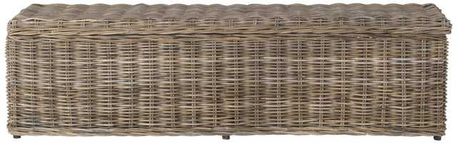 Caius Wicker Bench With Storage - Natural - Arlo Home - Arlo Home