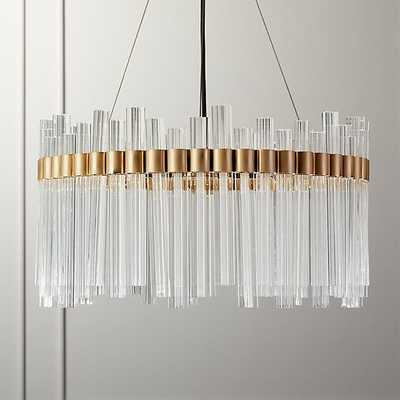 ORION GLASS CRYSTAL CHANDELIER - CB2