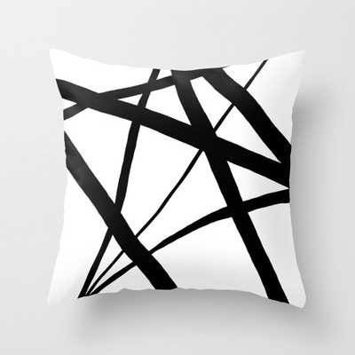 A Harmony of Lines and Shapes Throw Pillow with pillow insert - Society6