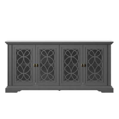 """Adonay TV Stand for TVs up to 55"""" - Antique Gray - Wayfair"""